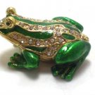 New Small Frog Rhinestone jewel Trinket Jewelry Box Gift