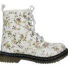 Martin style floral lace-up boot