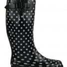 Polka-Dot Flat Wellington Boots