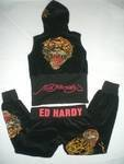 Black Ed Hardy Sweat Suit