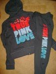 Dark Grey Victoria's Secret Sweat Suit