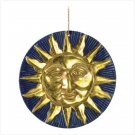 GOLDEN SUN TERRA COTTA WALL PLAQUE GARDEN SMILING SUN