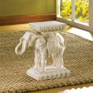 Asian Far Eastern Good Luck Trunk Raised Elephant Trunk Plant Stand