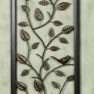 Beautiful Songbirds Wrought Wall Metal Panel