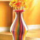 Stunning Hand Made Rainbow Vase