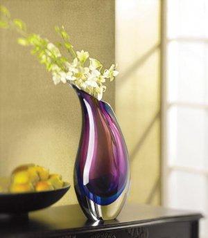 Elegantly Modern Violet Indigo Glass Vase