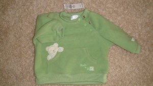 Size 0-3 Mos. Green Bear Sweater Brand New