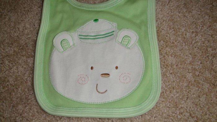Green Bear Bib Brand New