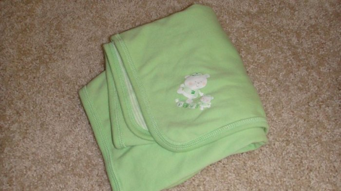 Green Baby Blanket  New