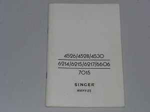 Singer Manual For Models MERRITT 4526 - 7015