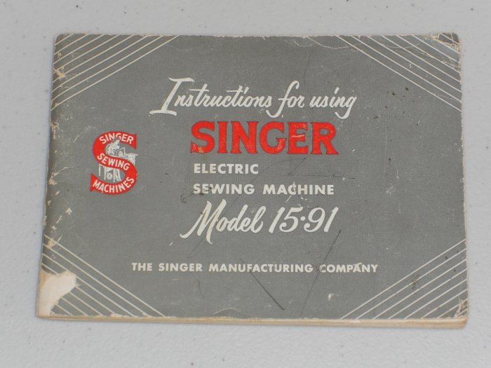 singer model 15 91 instruction manual Pfaff 145 Pfaff 130 Craigslist