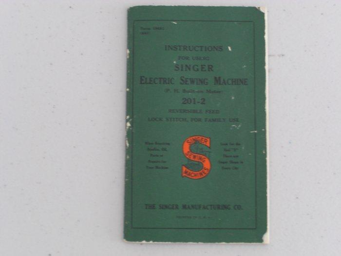 Singer Model 201-2 Instruction Manual