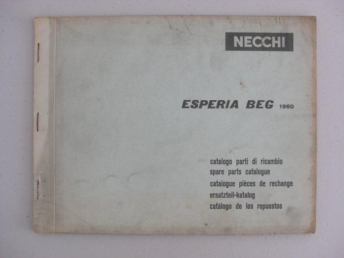 Necchi Model Esperia Beg 1960 Spare-Parts Catalogue