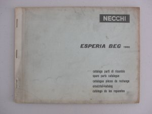 Necchi Model Esperia Beg 1960 Spare-Parts Catalogue