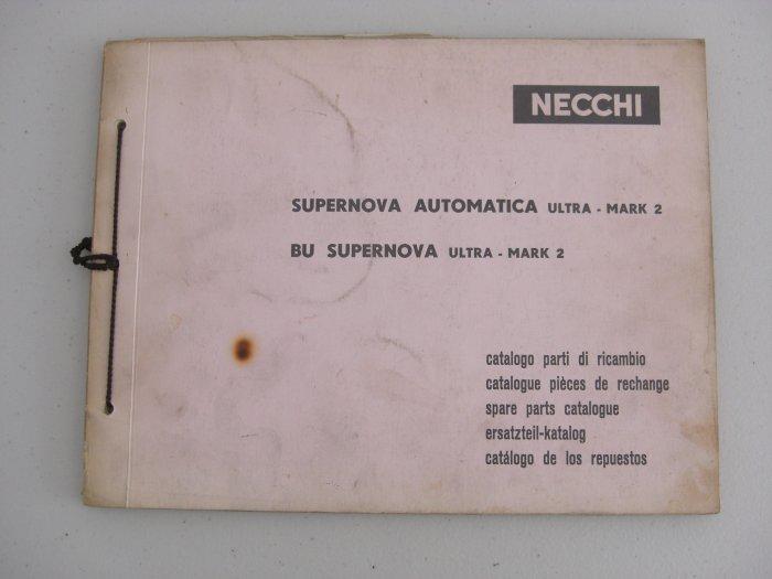 Necchi Supernova Spare Parts Catalogue
