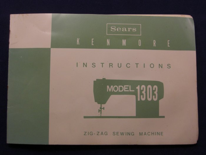 manual for sears kenmore sewing machine model 158