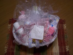 Bath Time Baby Gift Basket