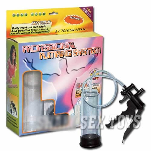 Pistol Penis Pump Enlarger with Removable Senso Sleeve