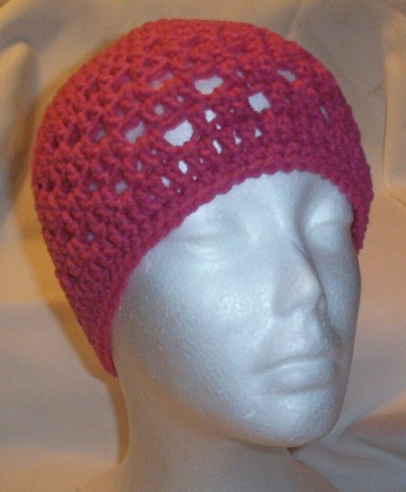 Hand Crochet ~ Ladies Skull Cap ~ Rose