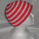 Hand Crochet ~ Skater Beaine ~ Red/White Stripe Emo