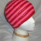 Hand Crochet ~ Sweet Beanie ~ Goth Hot Pink/Red Unisex