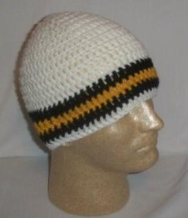 Hand Crochet ~ Sweet Steeler Beanies ~ Unisex - 4