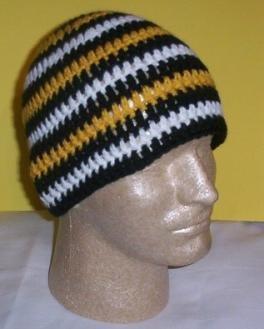 Hand Crochet ~ Sweet Steeler Beanies ~ Unisex - 10