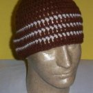 Hand Crochet ~ Sweet Beanie ~ Brown/Ivory