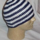 Hand Crochet ~ Sweet Beanie ~ Navy/White - Unisex -