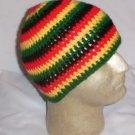 Hand Crochet ~ Men's Skull Cap Beanie Hat Rasta B