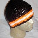 Hand Crochet ~ Men's Skull Cap Beanie Hat Harley #1