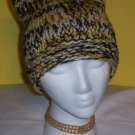 Hand Knit Cat Ears Hat Meooow - Black Gold White Steelers