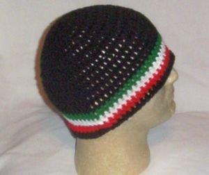 Hand Crochet ~ Men's Skull Cap Beanie Hat Italian Color D