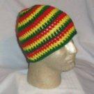 Hand Crochet ~ Men's Skull Cap Beanie Hat Rasta D