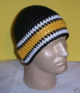 Hand Crochet ~ Sweet Steeler Beanies - N
