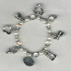 Keepsake Bridal Charm Bracelet or Anklet