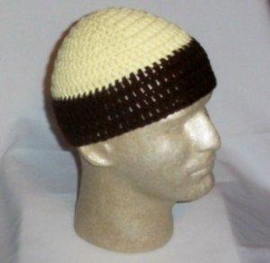 Hand Crochet ~ Men's Skull Cap Beanie Hat Zac Brown - 7 inches