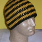 Hand Crochet ~ Sweet Beanie ~ Black - Gold - Unisex -