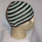 Hand Crochet ~ Sweet Beanie ~ Brown - Mint - Unisex -