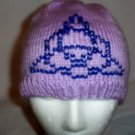 Hand Knit ~ Beaded Beanie Hats ~ Triquetra
