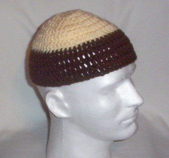 Hand Crochet ~ Men's Skull Cap Beanie Hat Zac Brown - 6 inches