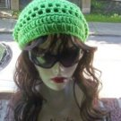 Hand Crochet Summer Slouchy Hat - Neon Lime