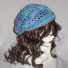 Hand Crochet Summer Slouchy Hat - Ocean Colors