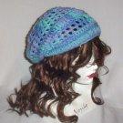 Hand Crochet Summer Slouchy Hat - Ocean Colors