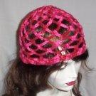 Hand Crochet Summer Mesh Juliet Cap - Rosie Shades