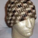 Hand Crochet ~ Skull Cap Beanie Outback Camoflauge