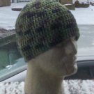 Hand Crochet Mens Cotton Skull Beanie Camouflage