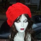 Hand Knit Oversized Slouchy Cabled Reed Beret Rasta Snood