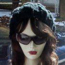 Hand Knit Oversized Slouchy Cabled Black Beret Rasta Snood