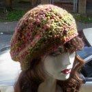Hand Crochet Summer Slouchy Hat - Green - Ready 2 Ship